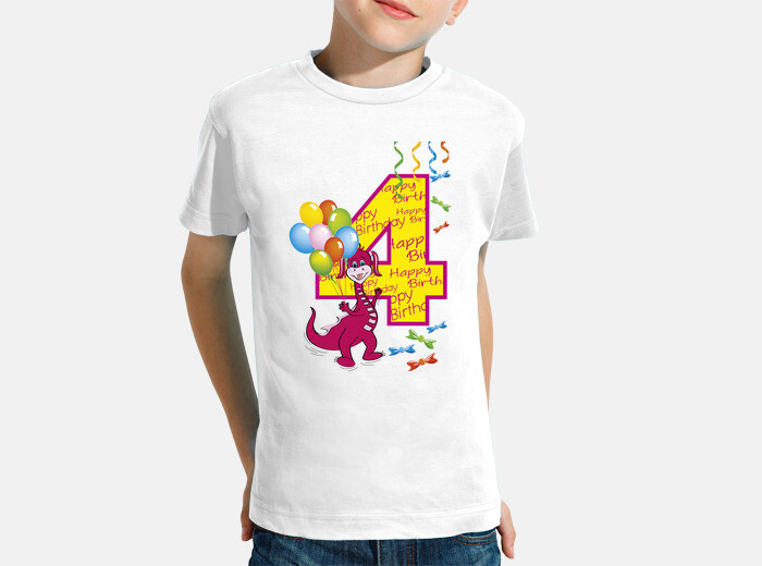Happy Birthday Number 4 Dragon Childrens Clothes