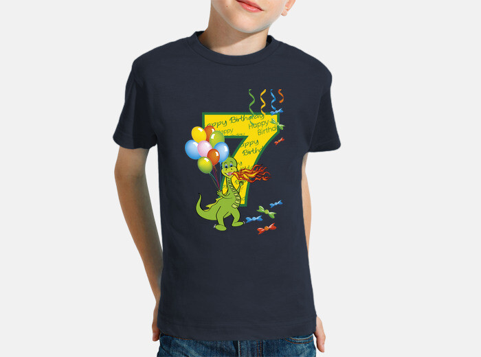 Happy Birthday Number 7 Dragon Childrens Clothes