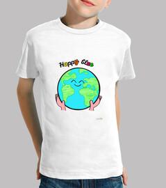 happy blue t-shirt