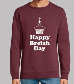 happy breizh day - sudadera ligera hombre