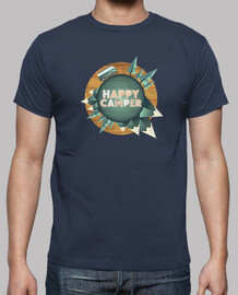 happy camper - happy round the world with my van - man, short sleeves, extra quality