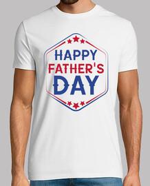 Happy Father's Day - Hombre, manga corta, blanco, calidad extra