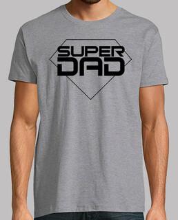 happy fathers day - man, short sleeves, gray vigor, extra quality