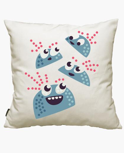Happy kawaii cute candy characters cushion cover