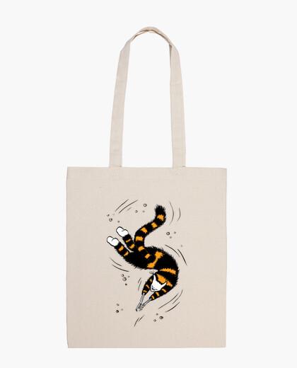 Happy Swimming Cat Skeleton Hands bag