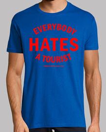 Hater: Hombre, manga corta, estampado rojo, calidad extra