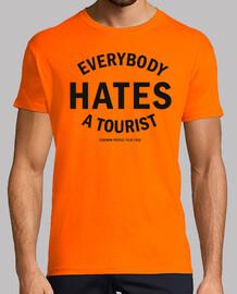 HATER: Hombre, manga corta, texto negro, calidad extra