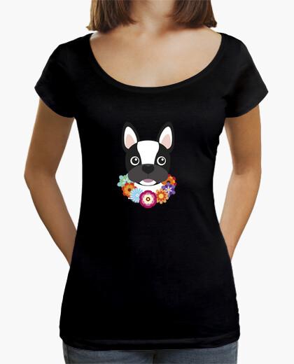 Tee-shirt hawaii bouledogue français