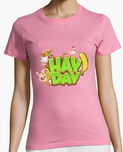6f23e8aef Camiseta Hay Day Logo chica - nº 657192 - Camisetas latostadora