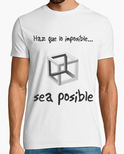 Camiseta Haz posible lo imposible clara (Cubo, hombre)