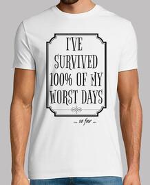 he sobrevivido 100 de mis peores días