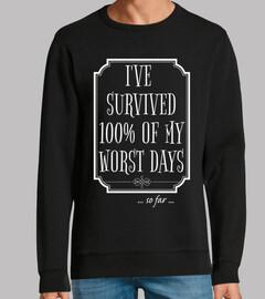 he sobrevivido a 100 de mis peores días
