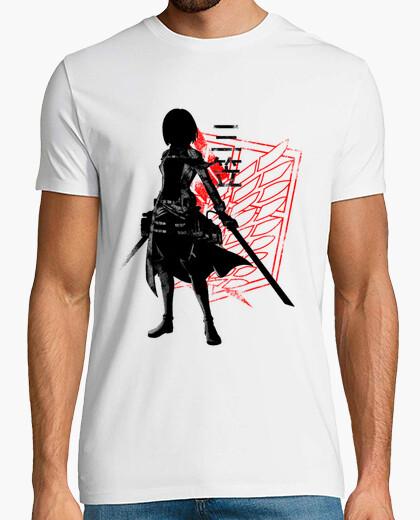 Camiseta héroe carmesí mikasa