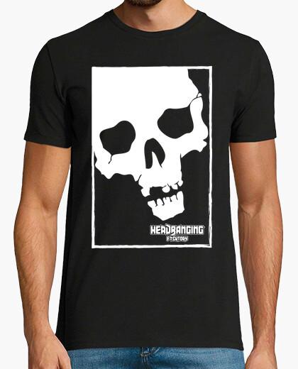 Camiseta headbanging calavera