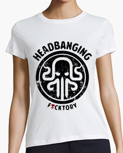 Camiseta headbanging kraken clara