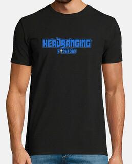 headbanging logo bleu foncé