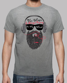 headphones musica hipster beard