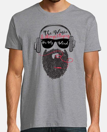 headphones musica hipster beard