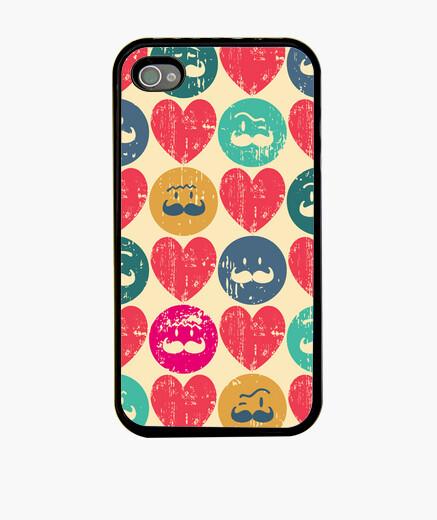 Funda iPhone Heart Moustache