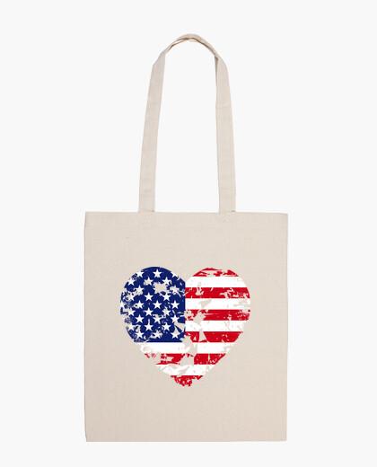 Heart usa bag