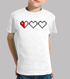 Hearts 8 Bits (Camiseta Niño)