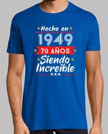 Hecho en 1949 - 70 Años siendo increíble