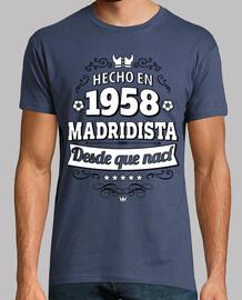 Hecho en 1958 Madridista desde que nací