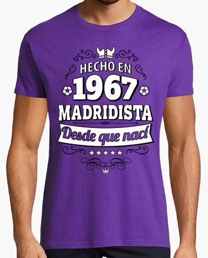 Camiseta Hecho en 1967 Madridista desde que nací