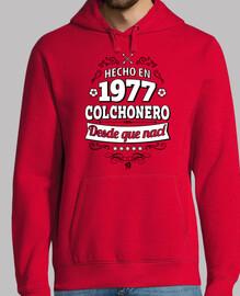 Hecho en 1977 Colchonero desde que nací