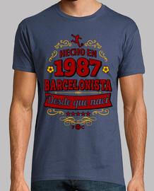 Hecho en 1987 Barcelonista desde que nací