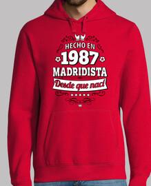 Hecho en 1987 Madridista desde que nací