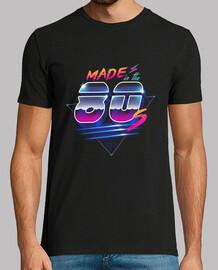 hecho en la camisa de los años 80 para hombre