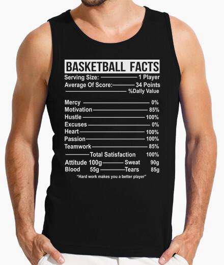 Camiseta hechos de baloncesto