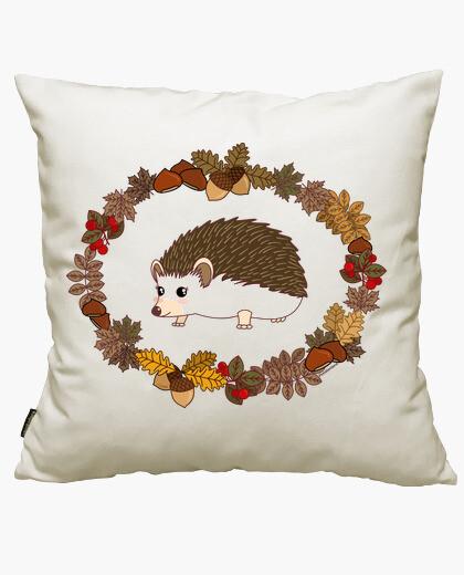 Hedgehog kawaii cushion cover