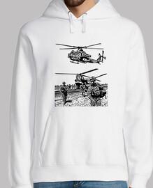 hélicoptère et militaire