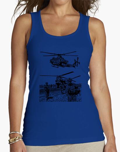Camiseta Helicóptero y militares