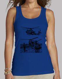 Helicóptero y militares