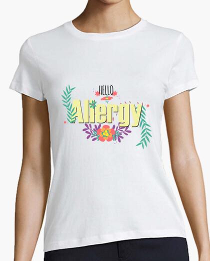 Camiseta hello allergy