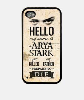 Hello, my name is Arya Stark - iPhone 4