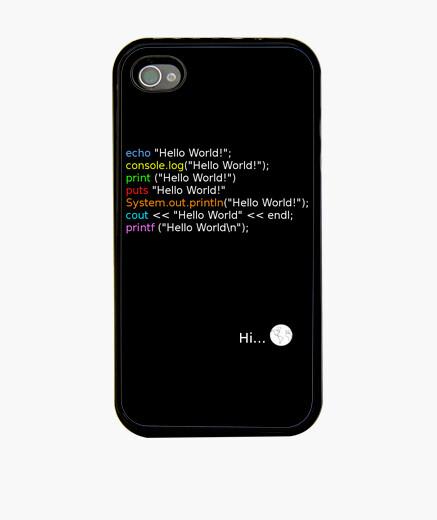 Funda iPhone Hello World Programador