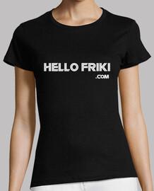 HelloFriki.com Blanco - Manga corta chica
