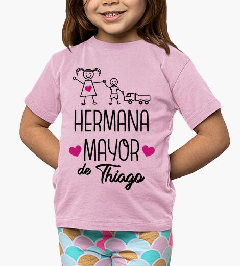 Ropa infantil Hermana mayor de... Niño, manga corta, rosa