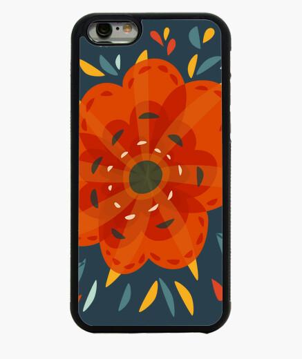 Funda iPhone 6 / 6S hermosa flor de naranja decorativa