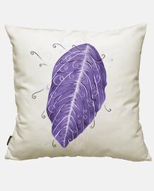 hermosa hoja violeta swirly