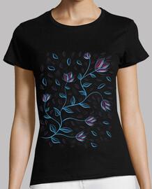 hermosas flores abstractas brillantes