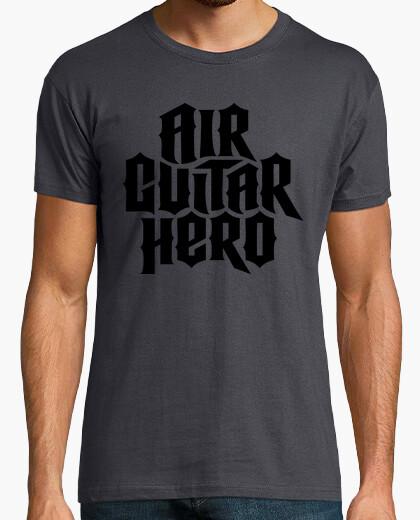 Camiseta héroe de la guitarra del aire (negro)