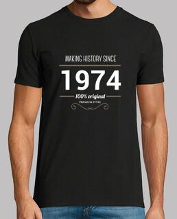 herstellung weißer text geschichte 1974
