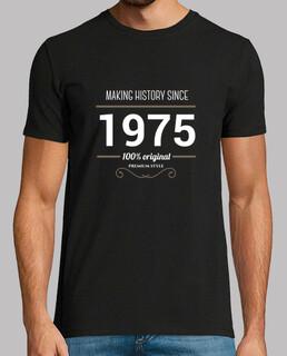 herstellung weißer text geschichte 1975