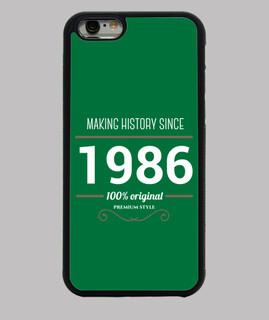herstellung weißer text geschichte 1986