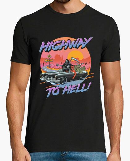 Highway to hell shirt mens t-shirt